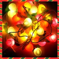 Free shipping 5pcs/lot,Christmas decoration lights led christmas tree 3.7m fruit light christmas lights bling lamp 312