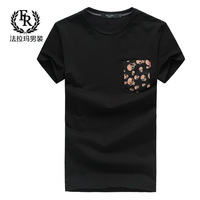 Summer fashion 2013 permanent press cartoon t shirt skull black male t-shirt