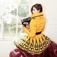 Free Shipping! High-end Customization Long-sleeve Fashion Thicken Women Down Jackets Coats,GRYR180