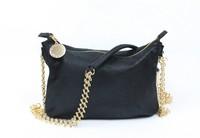 Top quality original new style PVC gold chain black women's ambre tote handbag shoulder bag fashion gift free shipping wholesale