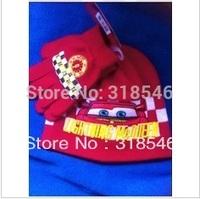 Free shipping 6sets/ lot children cartoon winter cap and glove baby boy cartoon winter cap+glove car warm hat+glove 2pc set 1-4Y