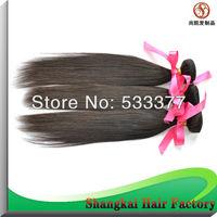 50g/bundle Unprocessed Virgin Peruvian Hair  Silky Straight   Nature Black Color 6 Bundles/Lot  Free Shipping