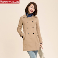 Hospitably trench female 2013 elegant slim double-breasted autumn outerwear women's trench h5600523