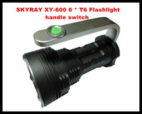 Latest skyray xy-600 portable handle switch 6T6 CREE Flashlight 18650 lithium