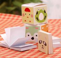 3270 free shipping mini note pads colorful cartoon memo pad paper 5 pcs/set