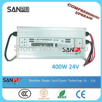 Free shipping!!! LED display 110v ac to 24v dc regulated power supply 24v single output waterproof LED 400W transformer 175-240V