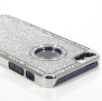 New Hot Selling  Rhinestone Diamond Crystal Chrome Case Cover For iPhone 5 5G 5G free shipping