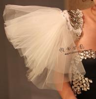 2014 new fashion Ultralarge gauze wings epaulette dance costume epaulette