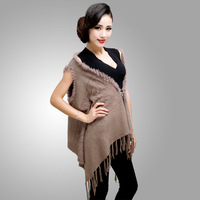 Velvet autumn and winter women's jacquard wool scarf rabbit fur cashmere knitted shawl muffler scarf ultra long dual