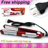 2013 NEW Hot Sale Retail Titanium Ceramic Hair Straightening Flat Iron free shipping with Round plug free shipping