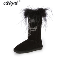 2013 winter handmade rhinestone peacock wool fashion tassel snow boots Women high-leg boots genuine leather boots