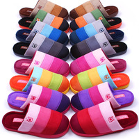 Double 2 cotton-padded winter slippers platform slippers home lovers slippers slip-resistant