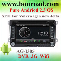 s150 android 2.3 os car dvd player for new vw jetta golf 5
