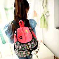 2013 fall new cute cartoon canvas bag backpack schoolbag
