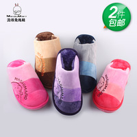 2013 scampish rabbit winter slippers lovers at home platform slippers plush thermal cotton-padded shoes home