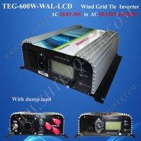 600w wind generator power inverter (AC 3phase input 10.8-30v to ac 220v, 230v, 240v), wind turbines inverters
