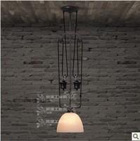 Industrial light can lift the single-head chandelier RH