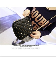 Embroidery bag pointed toe rivet bag messenger bag