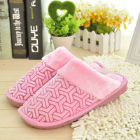 Platform cotton-padded autumn and winter slippers floor slippers lovers at home thermal cotton-padded slippers