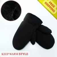 2014 new unisex cotton fingerless gloves winter warm high-quality gloves double layer cotton-padded sports gloves free shipping