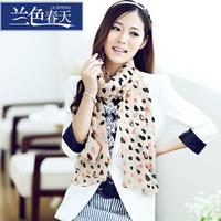 Blue 2013 fashion new arrival sweet heart pattern women's chiffon silk scarf cape