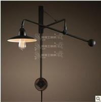 RH Industrial Wind Paris hotel designer long arm wall lamp retro technology