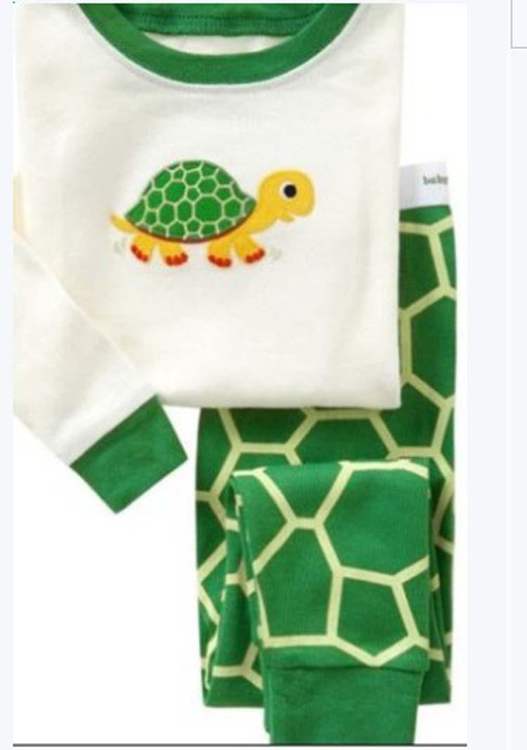 Latest 2014 design comfy wear family children kids pajamas sets/baby boys girls 100% cotton sleepwear nightgown christmas pjs(China (Mainland))