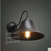 IKEA Loft Warehouse Industrial Wind imitation rusty iron wall lamp cap