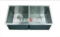 2013 hot Undermount Double Bowl Stainless Steel Kitchen Sink
