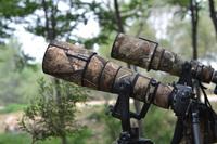 camouflage telephoto lens coat for photographer