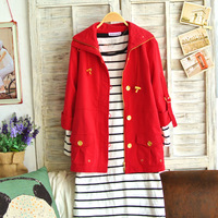 S09-219 ! plus size clothing 2013 half sleeve trench outerwear multicolor