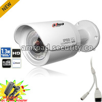 1.3 Megapixel HD 720P ONVIF POE Dahua 1.3Mp Waterproof IR Mini Outdoor Bullet Network IP Camera w Power Adapter DH-IPC-HFW2100P
