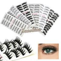 60 Pair 6 Style Long False Eyelashes Eyelash Eye Lashes 6916