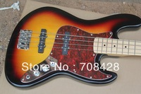 2014 new bass free shipping 4 string jazz bass maple neck bass guitar in sunburst color
