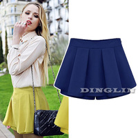 New Fashion Women Ladies High Waist Pleated Chiffon A-Line Summer Casual Skirt Shorts Culotte Pants S M L Free Shipping 01088