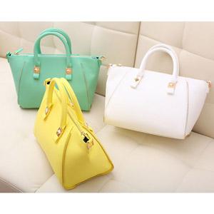 2013 candy color bag fashion sweet portable women's bag one shoulder women's handbag bag messenger bag(China (Mainland))