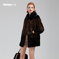 Sploshes Women slim outerwear fur mink marten overcoat 2013 d815
