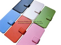 Genuine Real Leather Case for iPhone 5C, Stand 2 Card Holder Phone Wallet Cover with Free Screen Guard Housse Etui Coque