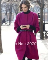 Free Shipping New Arrival Women's Down Coats,Women Woolen Coat  2 Color Size S,M,L