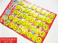 hot selling and popular service tin button  big eye smiling face badge 45mm cartoon ,fashion pin badge.badge button