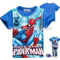 cartoon spiderman tee shirts,fashion summer kids t shirt,new character design tops,baby boys summer short sleeve tees cotton