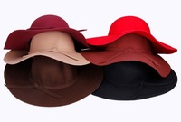 Wool Felt Crushable Summer Sun Beach Wide Brim Ladies Floppy Hat For Women 2014 New Arrival Hot Sale Females High Quality Hats