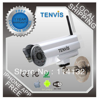 Tenvis IP602W outdoor IP camera waterproof high-sensitivity Auto IR-LED illumination for night vision Free shipping