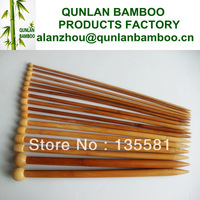 "[Factory direct sales]Excellent quality 15 size/Sets Bamboo Smooth Single Pointed Knitting Needles 14"", 2.0mm-10mm"
