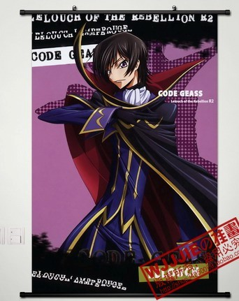 Code Geass Fabric Scroll Painting 90*60cm - 296 Anime HD Wall Posters Mural Paintings Home Decors Free Shipping(China (Mainland))