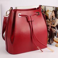 2013 fashion tassel drawstring bucket bag vintage bag shoulder bag cross-body preppy style female bags