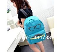 Free shipping 2013 fashion Canvas backpacks big beard printing schoolbag large travelling bag