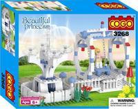 COGO 3268 building Blocks DIY The Princess castle Amusement park  Assembles Particles Bricks Free shipping