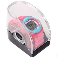 Hottest! 50pcs/lot WATCH BOX transparent FOR Unisex Quartz FASHION silicone SLAP candy jelly Silicone LED wrist watches