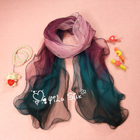 Autumn and winter sun cape scarf dual-use ultra long women's silk long silk scarf